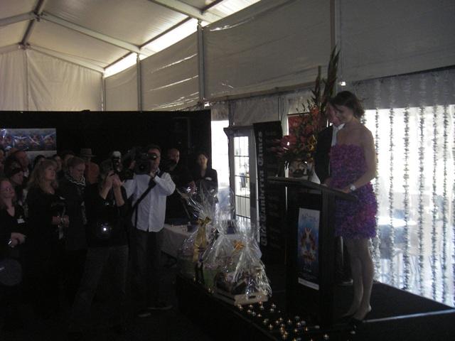 Media swarms as Antonia Kidman officially opened the 2009 Floriade