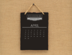 Image of April calendar